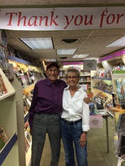 Joe Curby and Pam Orzell pictured during Al's Newsstand's final days in Old Town.