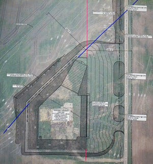 A diagram of the 12.6 million gallon capacity animal waste storage facility that was constructed in the town of Little River in Oconto County. A judge has dismissed the lawsuit neighbors filed in July stop its construction, but has scheduled a hearing on sanctions against the neighbors and attorneys in the case.