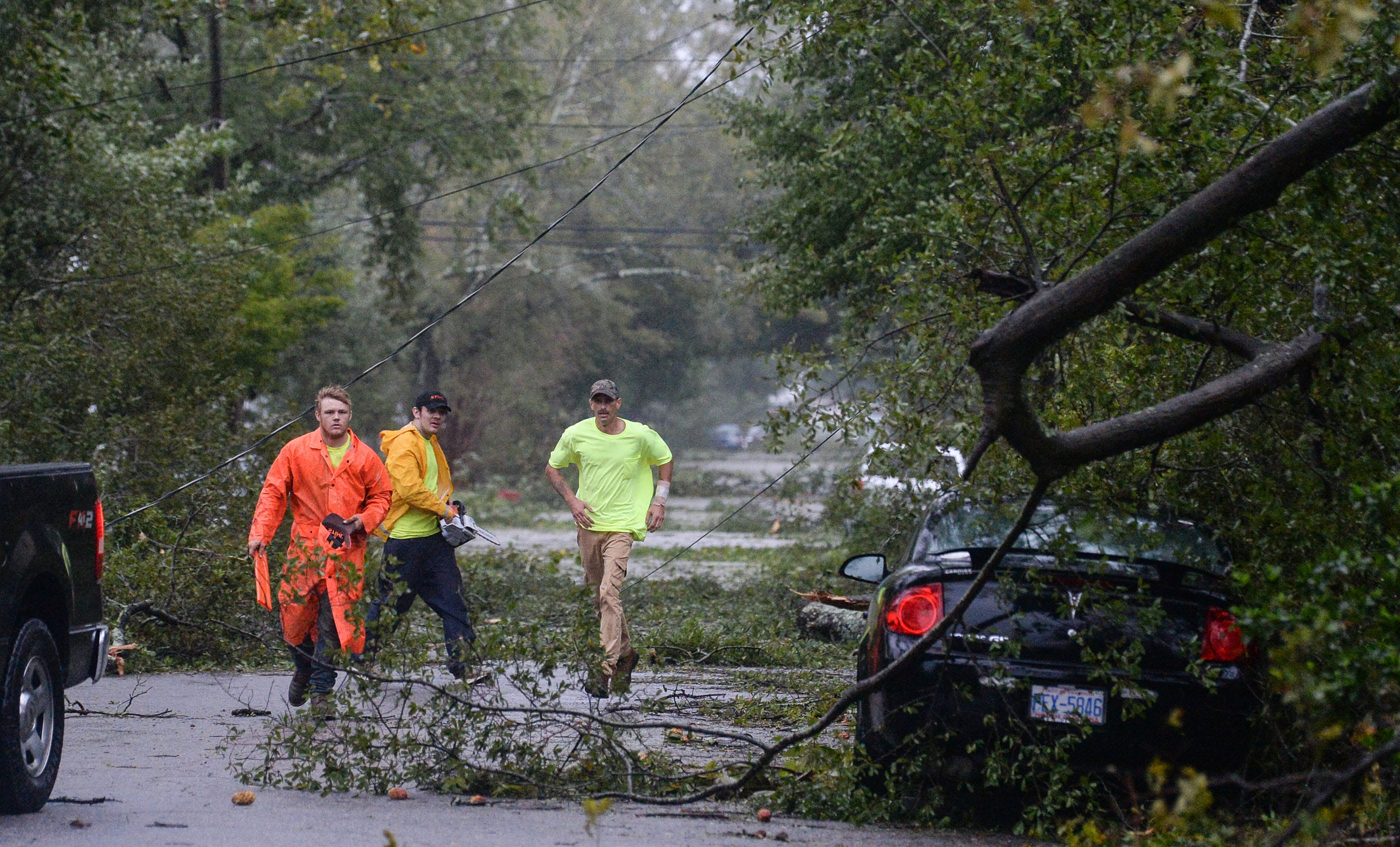 Florence: Wilmington resurfaces after landfall, now bracing for flooding and no power
