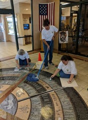 The Lewis and Clark Interpretive Center was one of several nonprofits in the Great Falls area where employees from D.A. Davidson volunteered this week.