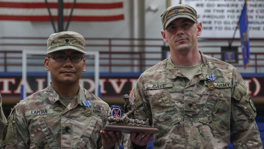 Specialist Terrence Lapitan and Specialist Christopher Cave, from 10th Mountain Division, 1st Brigade Combat Team, 1st Battalion, 87th Infantry Division will be representing Fort Drum at the 2018 CSM Jack L. Clark Jr. Best Medic Competition at Fort Sam Houston Joint Base San Antonio, Texas on September 16-20. The Mountaineer's medics will compete against with 16 teams from other divisions in the entire United States Army. The Army's Best medic competition is intended to tests the team's medical knowledge, skills, infantry field tactics, physical and mental fitness.