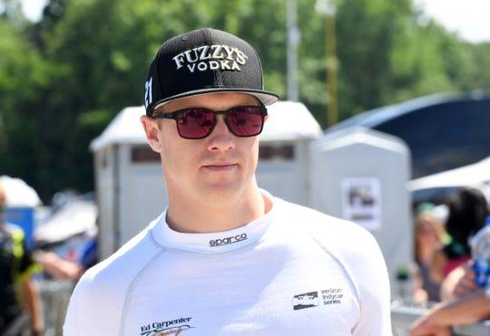 Verizon Indy Car driver Spencer Pigot (21) during qualifying for the Kohler Grand Prix at Road America.