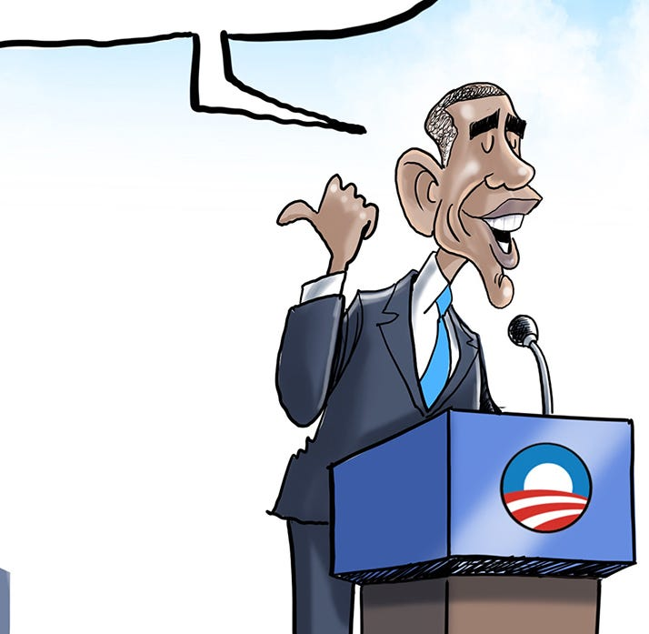 Cartoonist Gary Varvel: Obama takes credit for Trump's economy