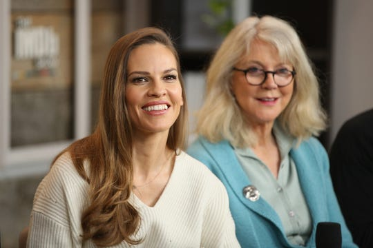 "Hilary Swank, left, and Blythe Danner are stars of ""What They Had,"" a movie that will be screened Oct. 14 at Heartland Film Festival before its general release."