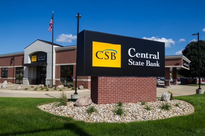 Central State Bank is seen on Friday, Sept. 14, 2018, in Coralville, Iowa.