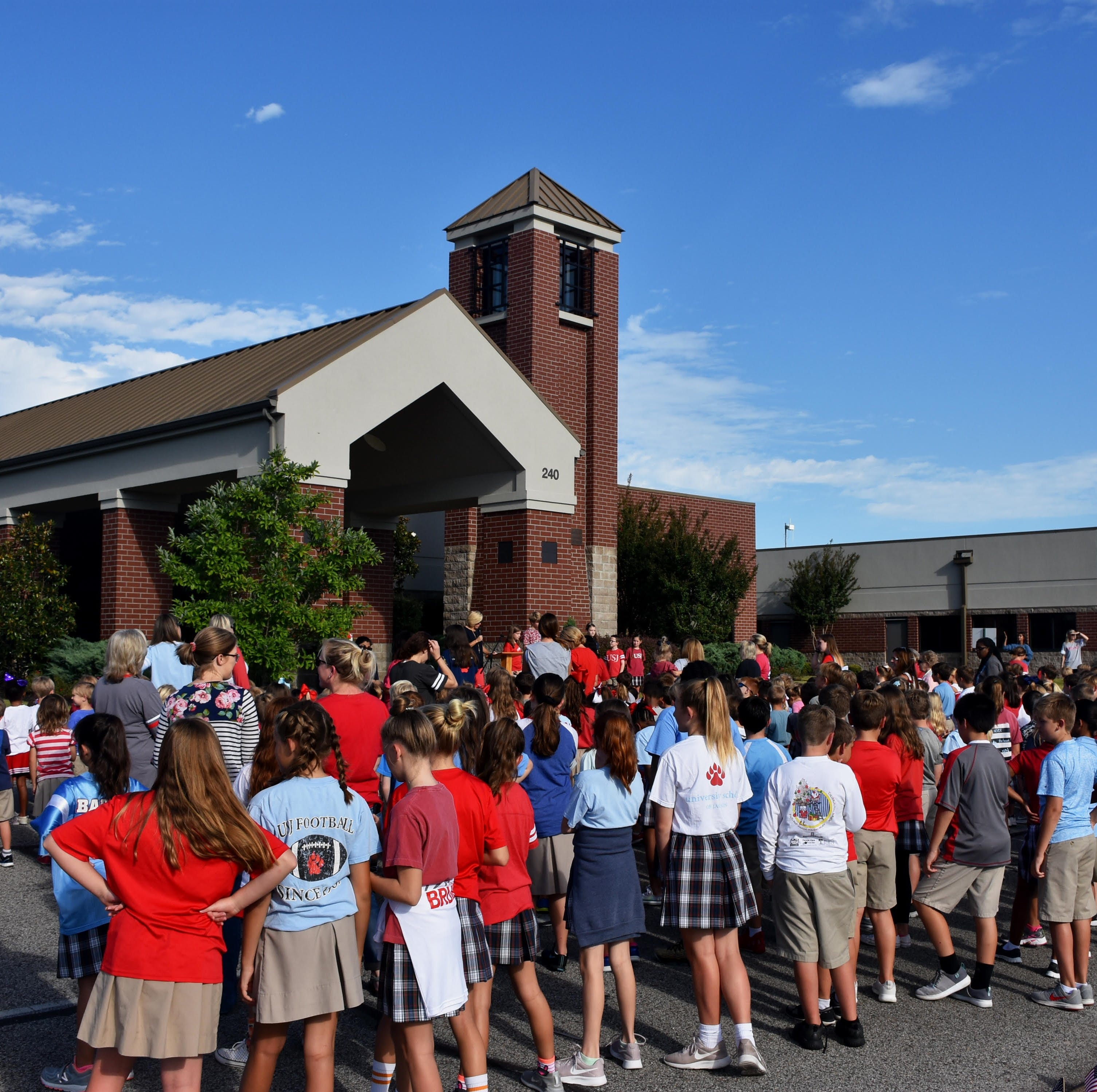 USJ Lower School students participate in National Anthem Project