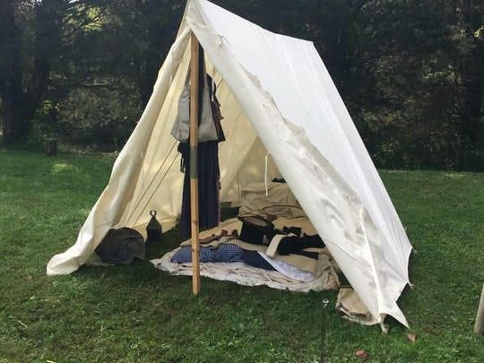 A military tent Marble Springs State Historic Site on John Sevier Highway.