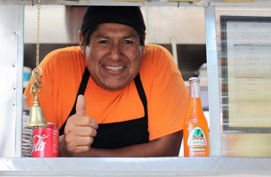 "This month, Homberto Vazquez moved his ""Taqueria La Potocina"" Chevrolet food truck to a new, handy location for Halls residents. September 2018"