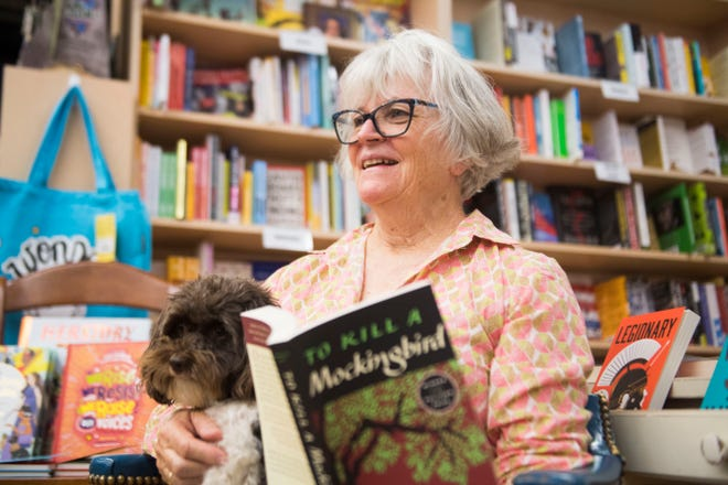Flossie McNabb poses for a photo in her store, Union Ave. Books, in downtown Knoxville, Friday, Sept. 14, 2018. The store is expanding into space next door.