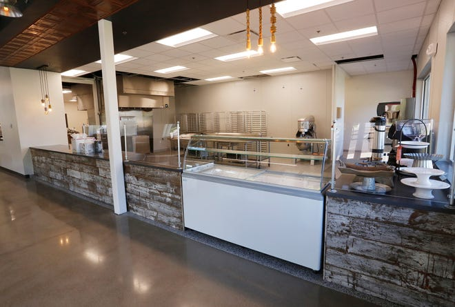 The kitchen of the Flour Mill Bakery & Cafe inside the Northend Community Center Thursday, September 13, 2018, at 2000 Elwood Avenue in Lafayette. A drive up window will also be featured at the Flour Mill. The Northend Community Center is the collaboration of 13 different nonprofits. The Northend Community Center will open at 3:30 p.m. Sunday, September 16.