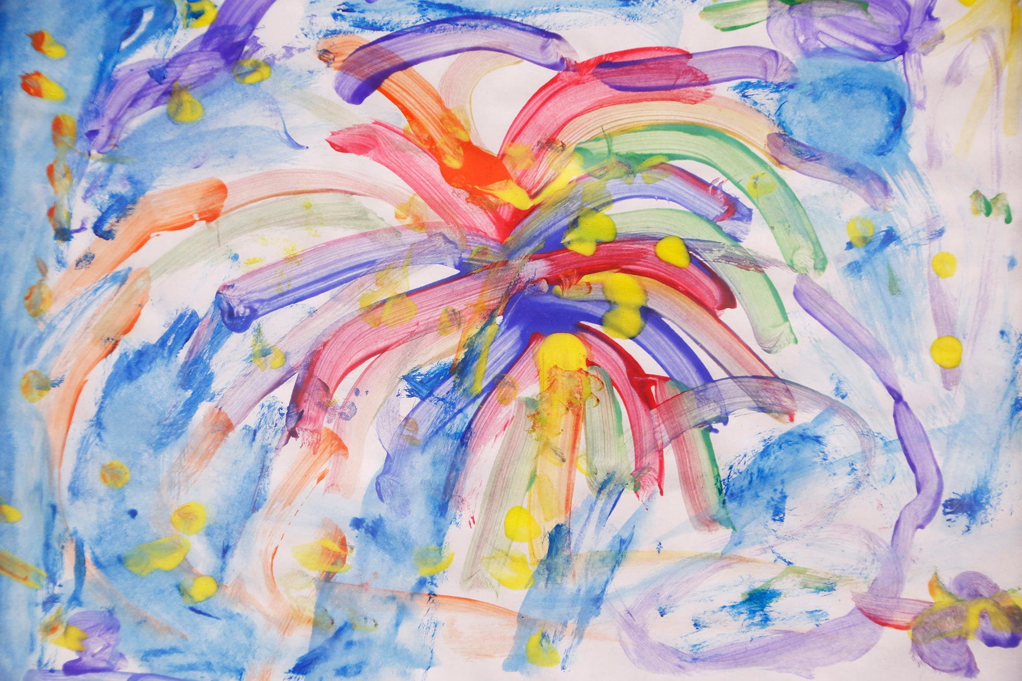 """A painting titled """"Fireworks"""" by Emma Kendall that is part of an art exhibit to benefit Special Parents Special Kids Thursday, September 13, 2018, at Lala Gallery & Studio, 511 Ferry Street in downtown Lafayette."""