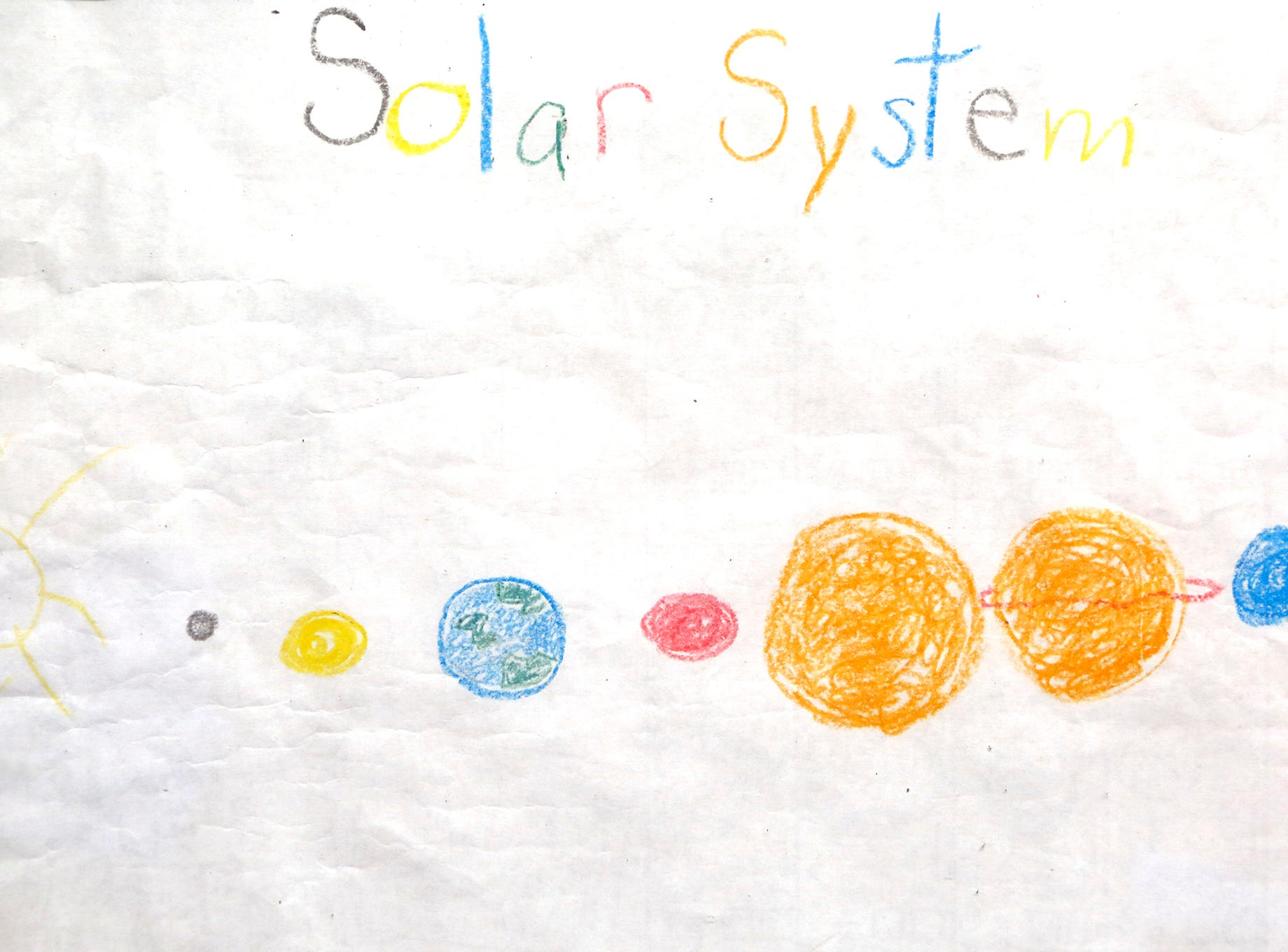 """A drawing titled """"Solar System"""" by Mathew Kendall that is part of an art exhibit to benefit Special Parents Special Kids Thursday, September 13, 2018, at Lala Gallery & Studio, 511 Ferry Street in downtown Lafayette."""