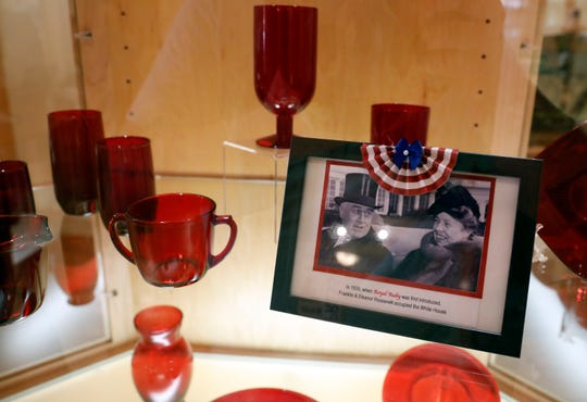 Royal Ruby glass is part of the Ohio Glass Museum's new show which features red, white and blue glass. The show opens Sept. 15 and runs until Feb. 28.