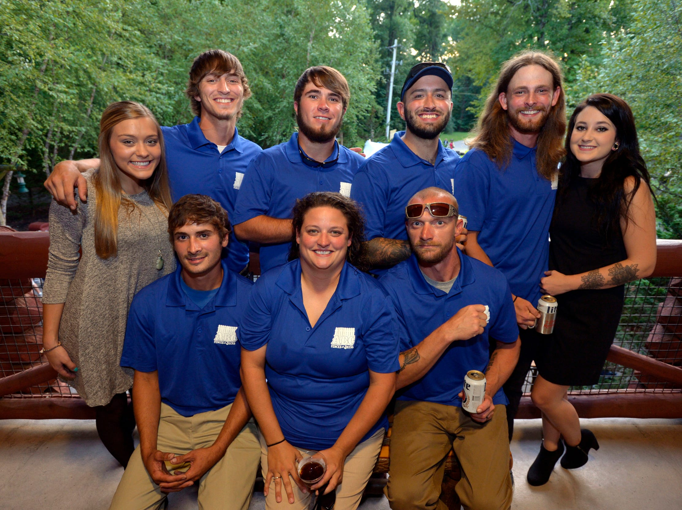 September 13, 2018 - Representatives from ABC Fences and Decks pose for a photo during the 2018 Memphis Most awards party at Teton Trek in the Memphis Zoo. (Brandon Dill for The Commercial Appeal)