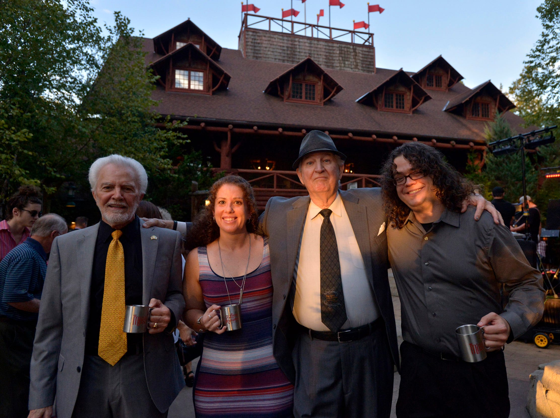 September 13, 2018 - Tops Barbecue representatives, from left, Russ Jordan, Renee Webber, George Montague, and Jonathan Montague pose for a photos during the 2018 Memphis Most awards party at Teton Trek in the Memphis Zoo. (Brandon Dill for The Commercial Appeal)