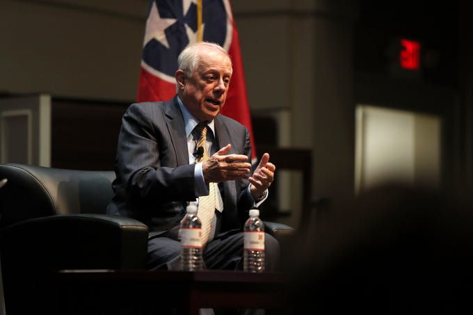 Former Tennessee Gov. Phil Bredesen speaks at Rhodes College's McNeill Hall on Thursday, Sept. 13, 2018.