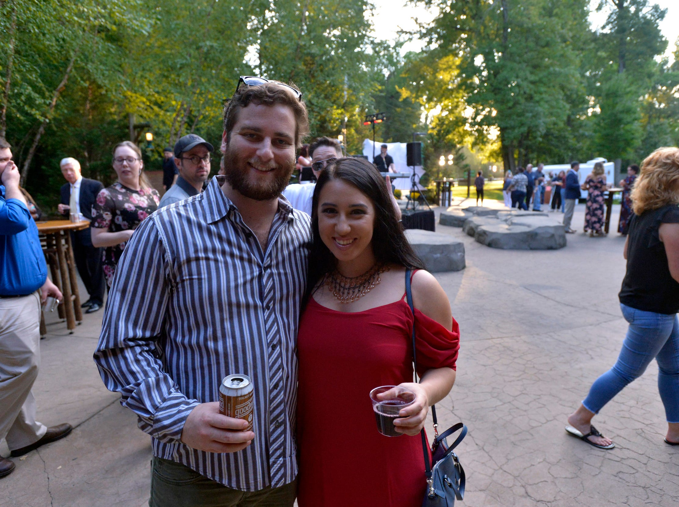 September 13, 2018 -Patrick Koplin and Jocelynn Jordan, representing Brother Juniper's, pose for a photo during the 2018 Memphis Most awards party at Teton Trek in the Memphis Zoo.
