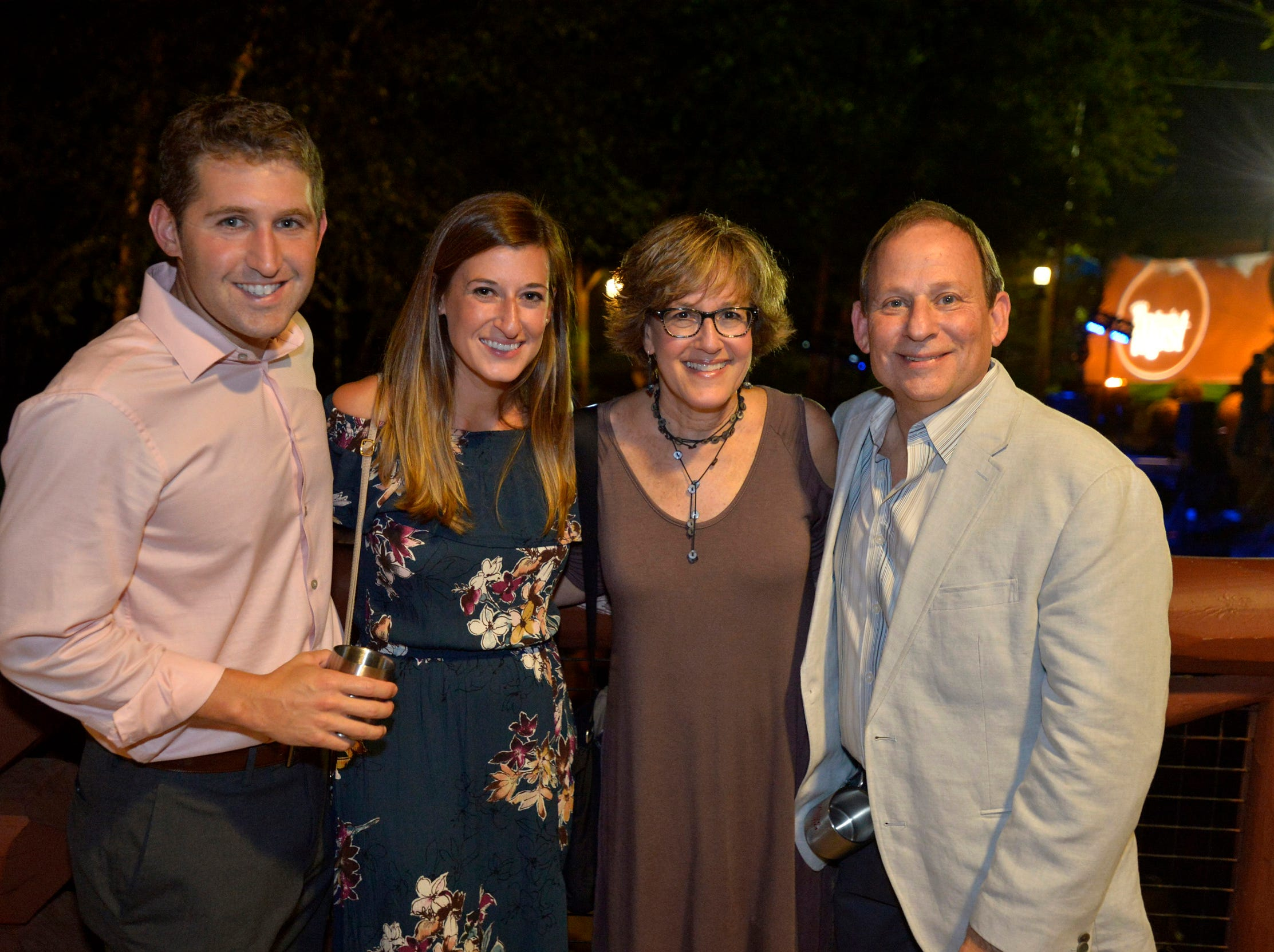 September 13, 2018 - Kevin Padawer, from left, Samantha Padawer, Rhonda Ginsburg and Alex Ginsburg pose for a photo during the 2018 Memphis Most awards party at Teton Trek in the Memphis Zoo. (Brandon Dill for The Commercial Appeal)