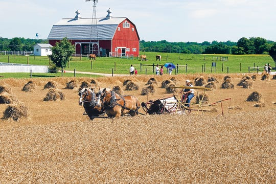 The Farm at Prophetstown State Park, north of Purdue University, models sustainable living off the land.