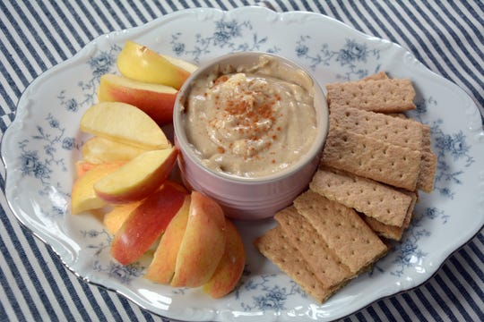 This three-ingredient caramel apple dip is equally good with apples and graham crackers.