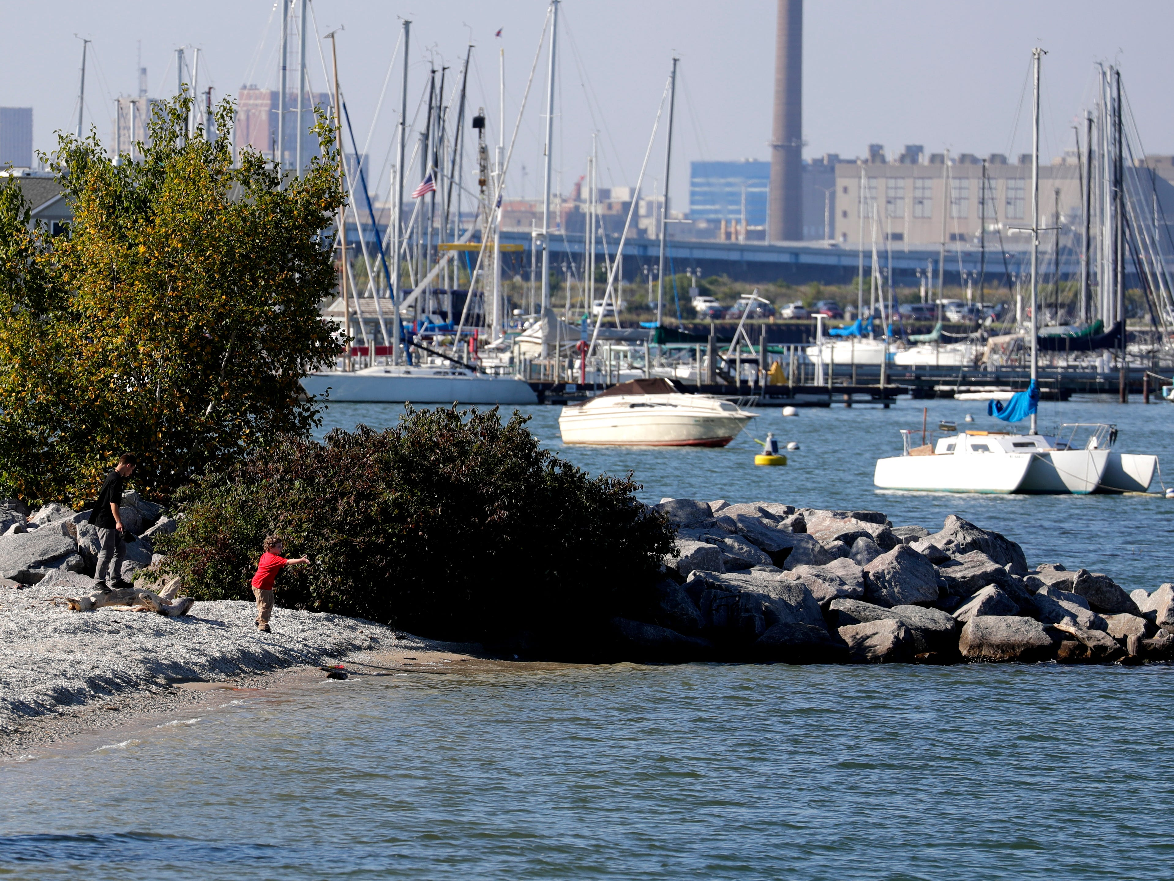 This old jetty at South Shore Park marks the north boundary of a proposed new beach for the park.