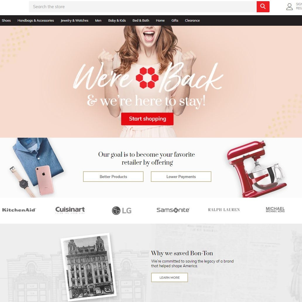 Bon-Ton launches new websites, is back in business