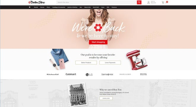 The websites for Boston Store and other Bon-Ton Stores nameplates were updated Friday.