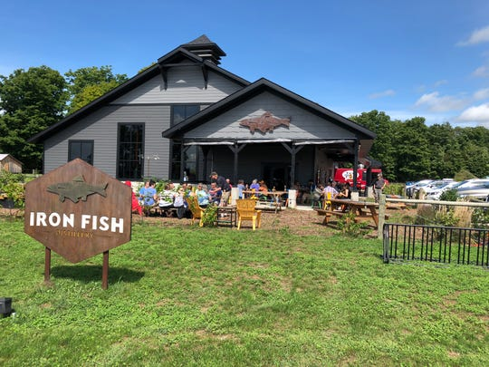 The Iron Fish Distillery near Thompsonville in Manistee County, Michigan, bills itself as the state's first working farm solely dedicated to the practice of distilling small-batch craft spirits.