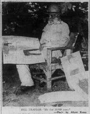 Bill Traylor, seen here in a photo from March 31, 1948, edition of the Alabama Journal
