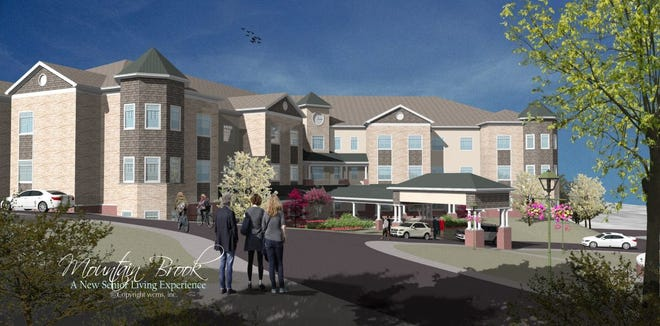 A rendering shows the planned Mountain Brook, a senior living facility approved for the center of Mt. Juliet.