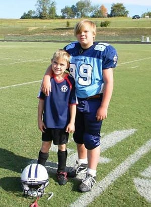 The Clevenger brothers in their younger playing days (l-r) Jacob and Jackson.