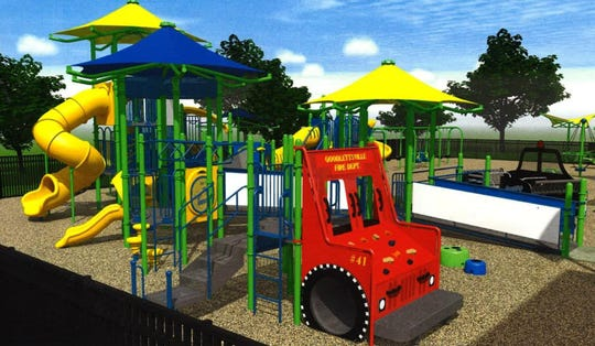 This rendering shows a tentative design of Goodlettsville's all-inclusive playground Rachel's Garden.