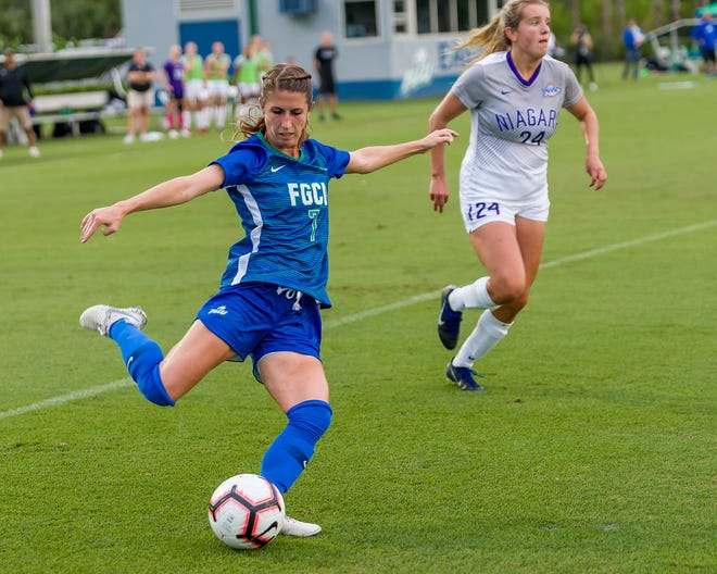 FGCU junior midfielder Holly Fritz already has scored four goals for the 16th-ranked Eagles.