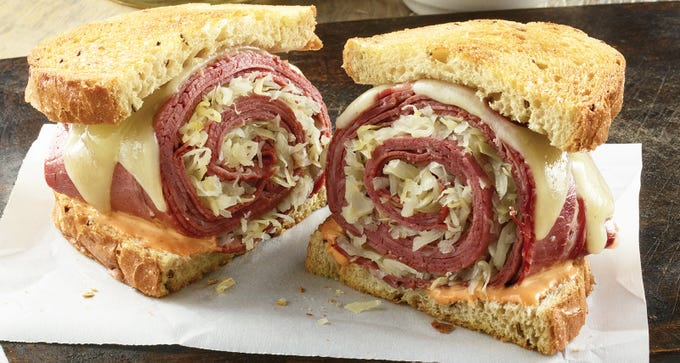 The rolled Reuben sandwich at TooJay's Deli Bakery Restaurant, coming in early 2019 to Mercato in North Naples.