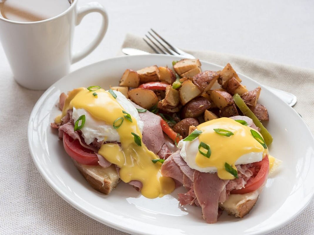 TooJay's Benedict at TooJay's Deli Bakery Restaurant, coming in early 2019 to Mercato in North Naples.