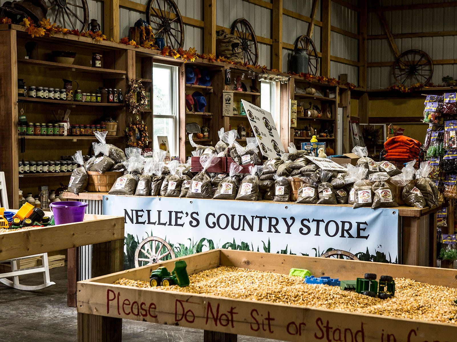 The country store where a variety of items can be purchased.