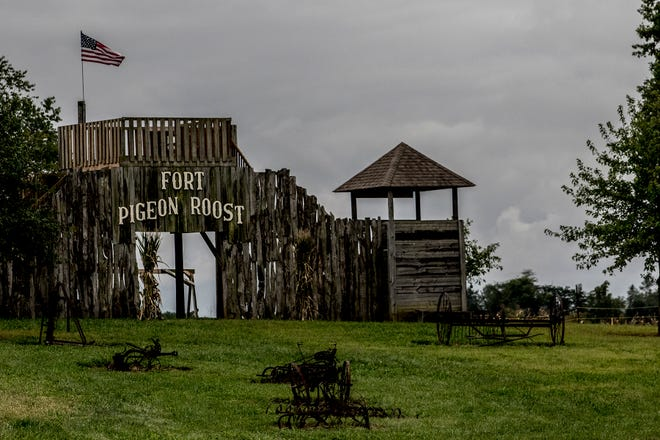 The play area at Pigeon Roost Farms.