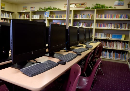 The library at Granville Christian Academy.