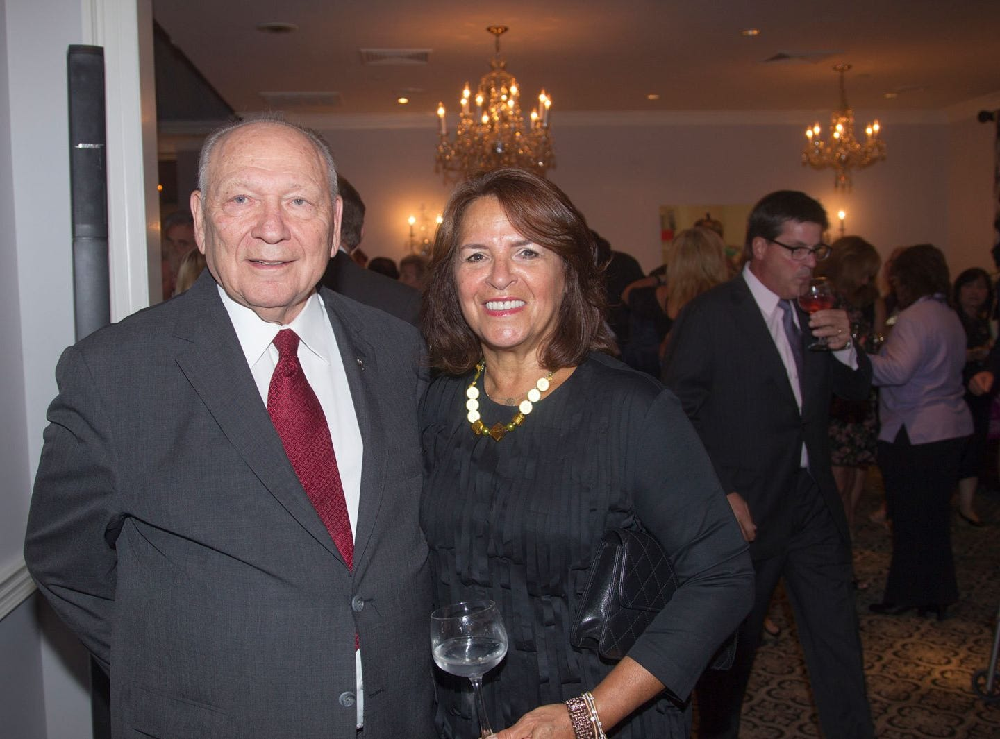 "Pete and Linda Hansen. Hackensack University Medical Center Foundation hosted ""Dance in to Ro's World,"" an evening to honor Rosemarie J. Sorce at the Stony Hill Inn in Hackensack. 09/13/2018"