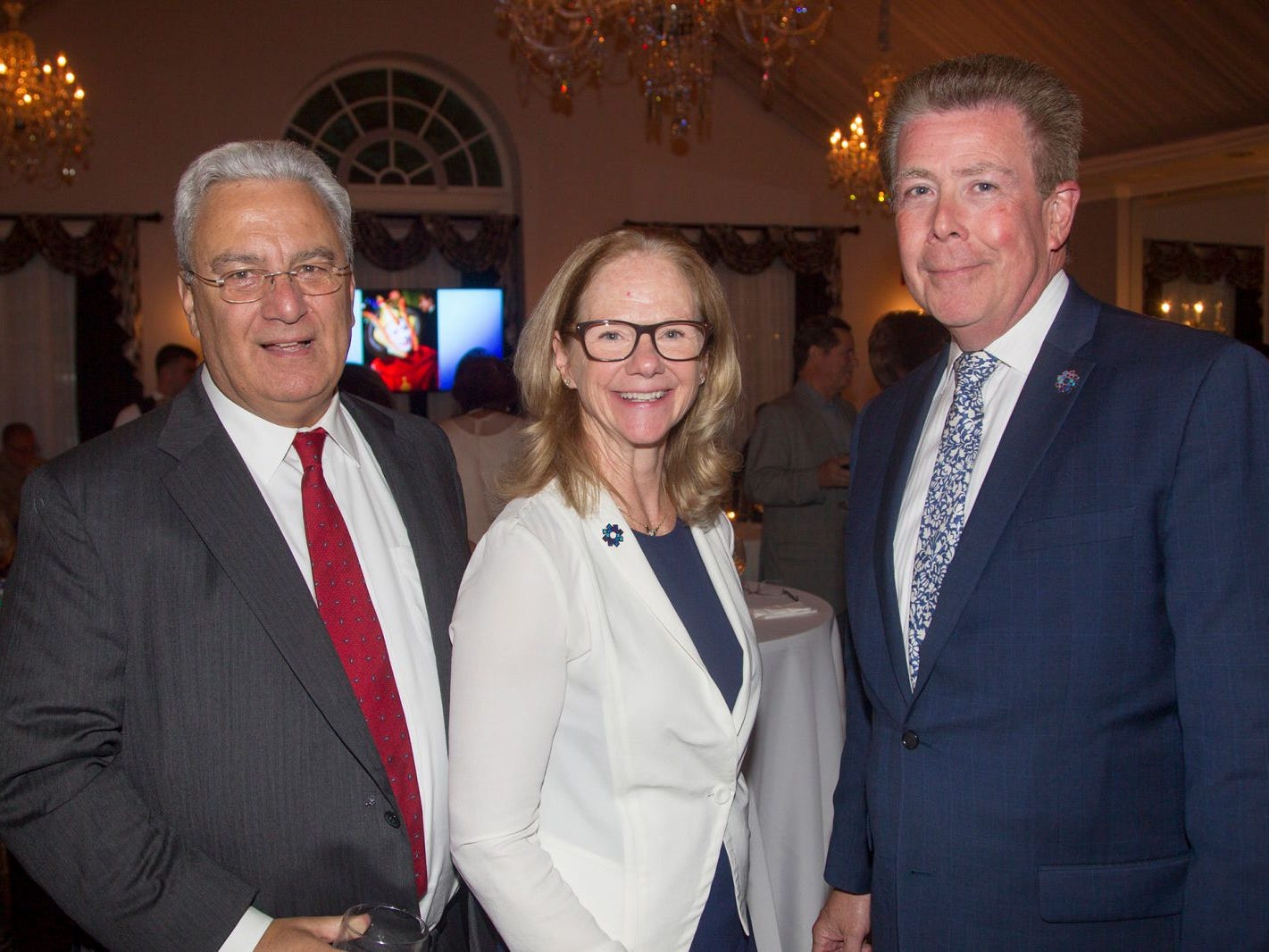 "Anthony Passannante, Pat Carroll, Joe Burt. Hackensack University Medical Center Foundation hosted ""Dance in to Ro's World,"" an evening to honor Rosemarie J. Sorce at the Stony Hill Inn in Hackensack. 09/13/2018"