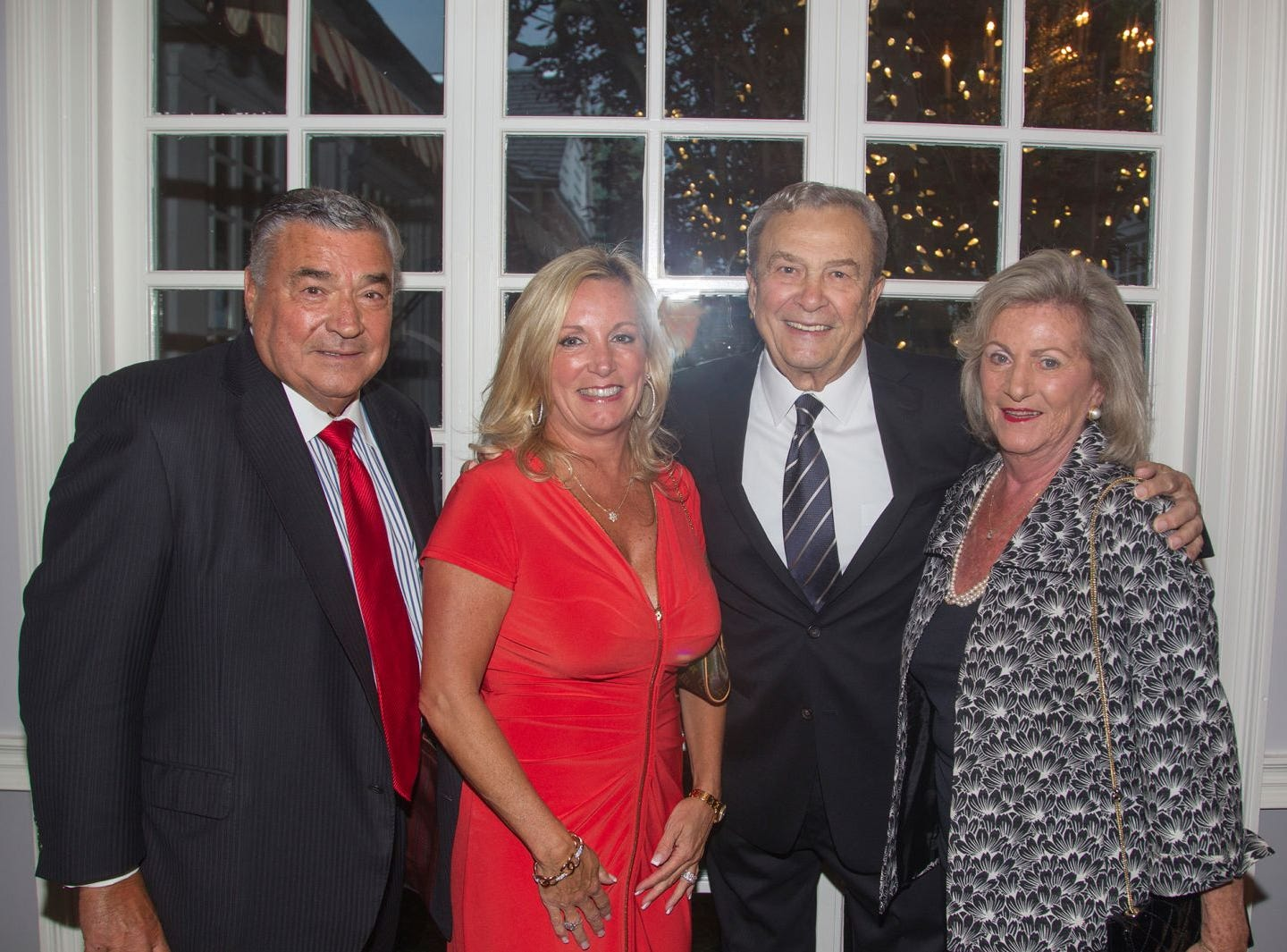 "Joseph Sanzari, Lori Rubino, Joe and Pam Simunovich. Hackensack University Medical Center Foundation hosted ""Dance in to Ro's World,"" an evening to honor Rosemarie J. Sorce at the Stony Hill Inn in Hackensack. 09/13/2018"