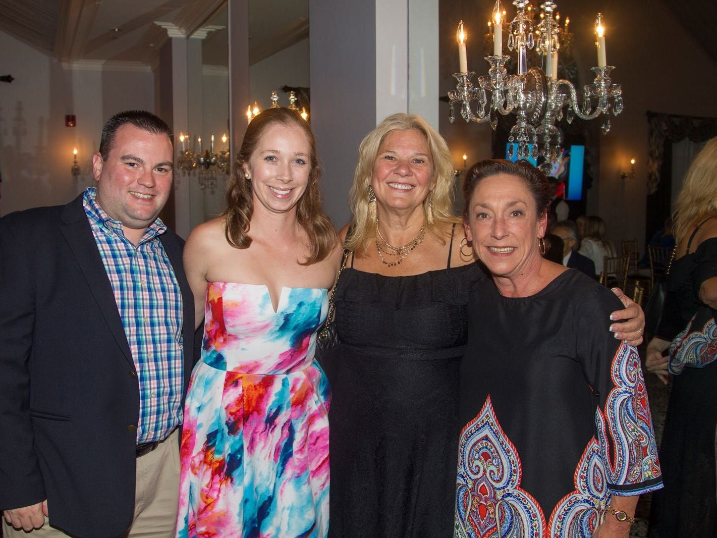 "Joe Turner, Amanda Turner, Barbara Breen, Tami Trobiano. Hackensack University Medical Center Foundation hosted ""Dance in to Ro's World,"" an evening to honor Rosemarie J. Sorce at the Stony Hill Inn in Hackensack. 09/13/2018"