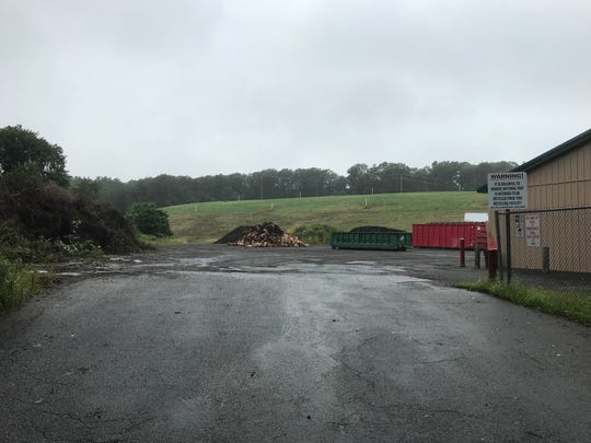 The Borough of Hopatcong's 3-acre recycling center sits in the shadow of the town's closed landfill on Sept. 14, 2018. The landfill is expected to be covered in solar panels in 2019.