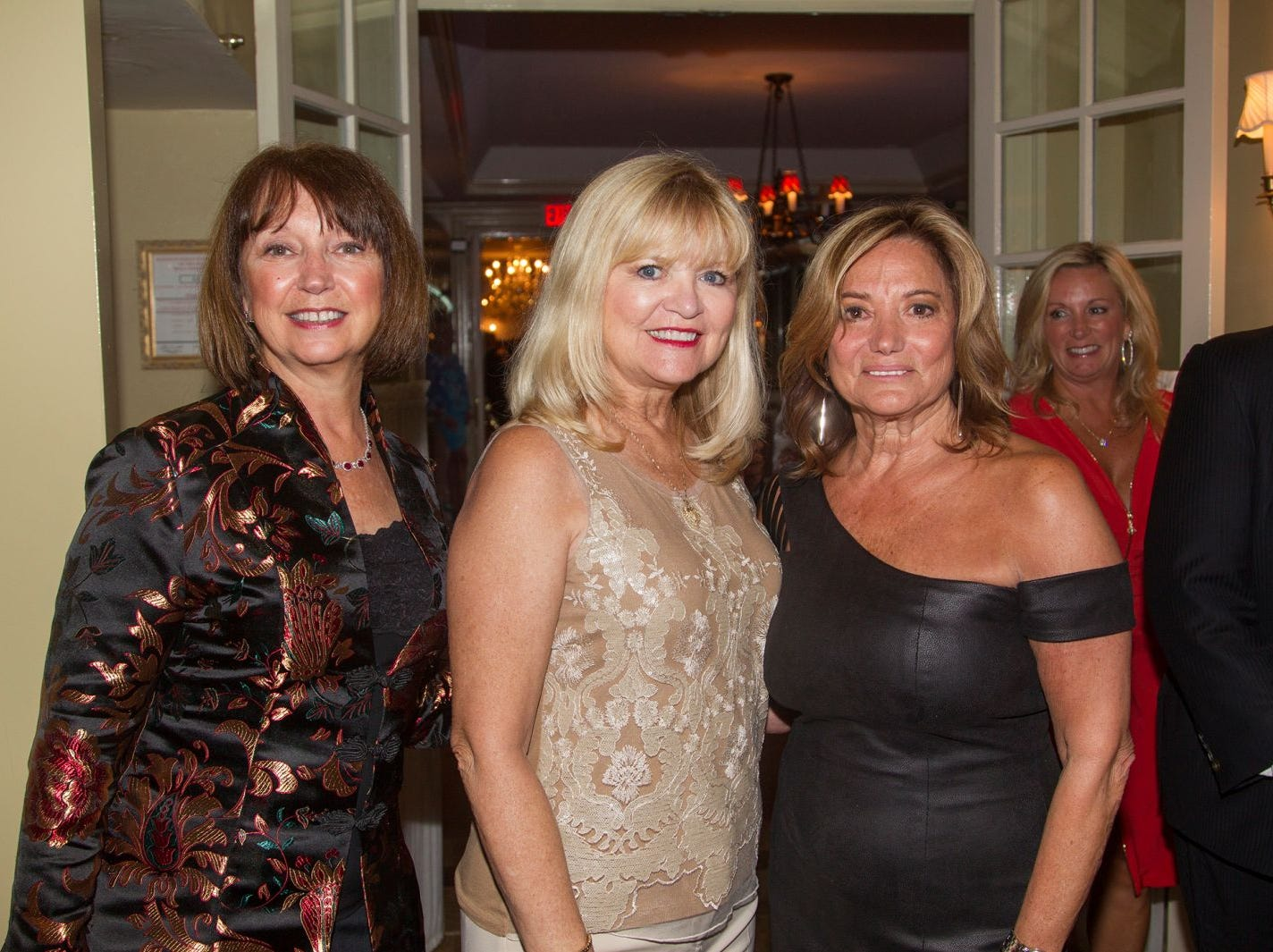 "Jerri Botan, Lee Oliver, Toni Horowitz. Hackensack University Medical Center Foundation hosted ""Dance in to Ro's World,"" an evening to honor Rosemarie J. Sorce at the Stony Hill Inn in Hackensack. 09/13/2018"
