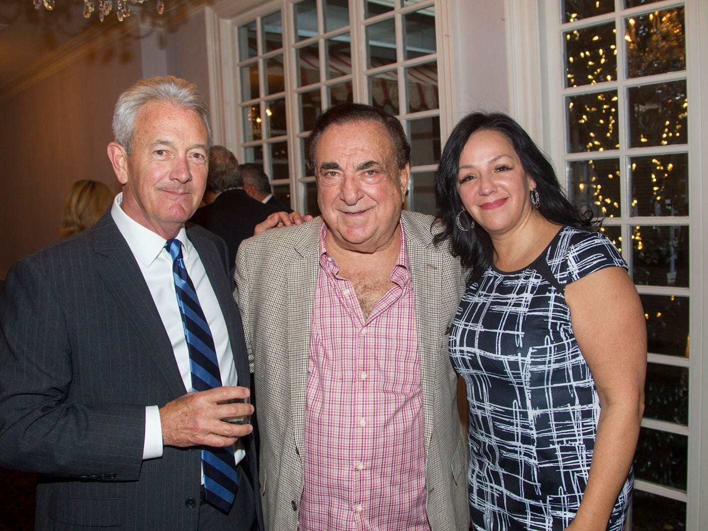 "Judge Louis Dinice, Wendy Delgado, Dave Robitsen. Hackensack University Medical Center Foundation hosted ""Dance in to Ro's World,"" an evening to honor Rosemarie J. Sorce at the Stony Hill Inn in Hackensack. 09/13/2018"