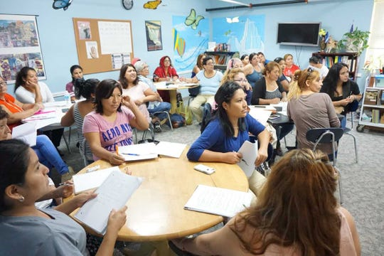 Oasis: Students in Ms. Audrey's English as a Second Language class.