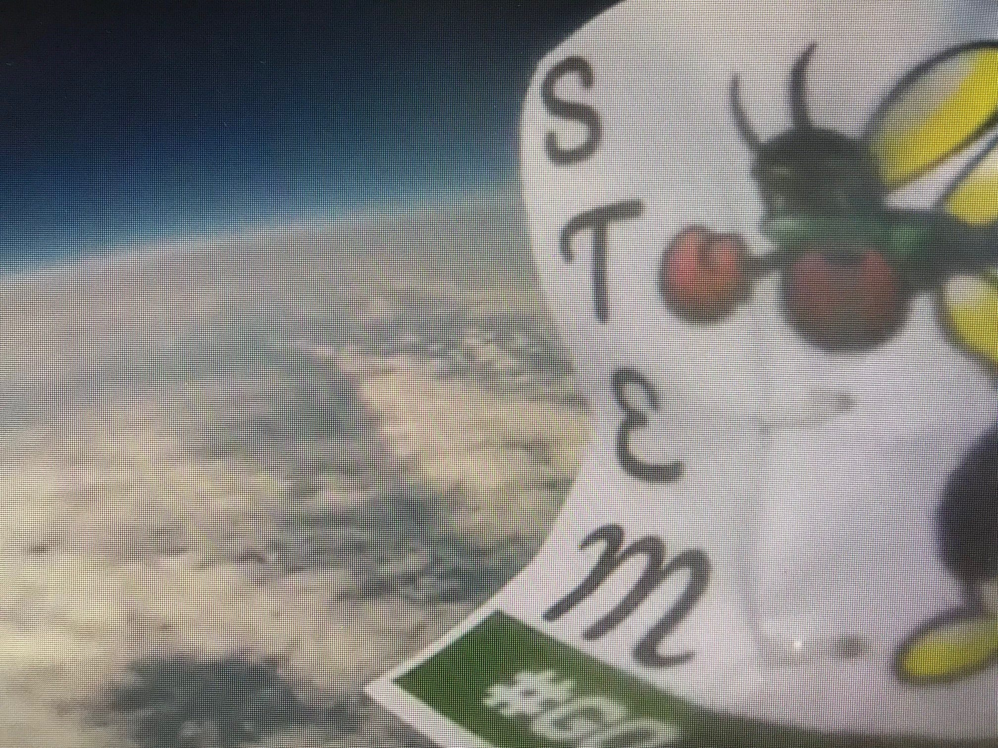 Photo taken from You Tube of the Hornets logo at close 109,000 feet. The students created a data package that including the use of a Go-Pro camera.