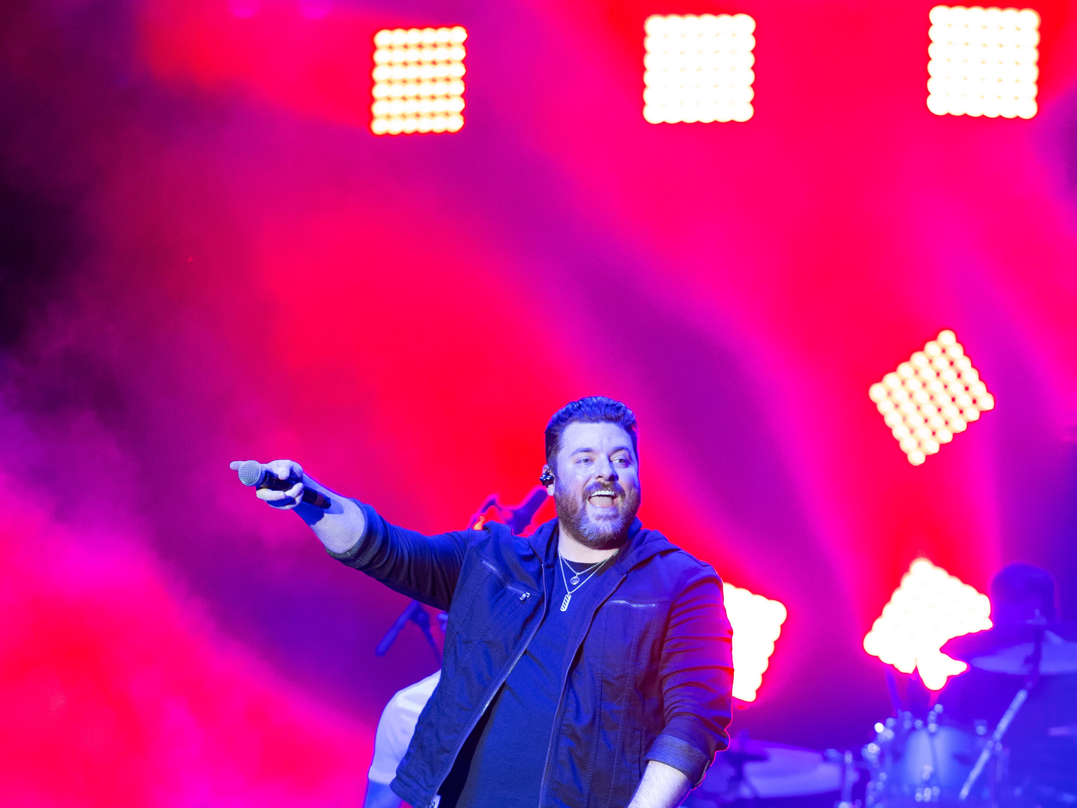 Chris Young returns to the Pan American Center to entertain a packed crowd during his concert held at the Pan Am Center in Las Cruces on Thursday, Sept. 13, 2018.