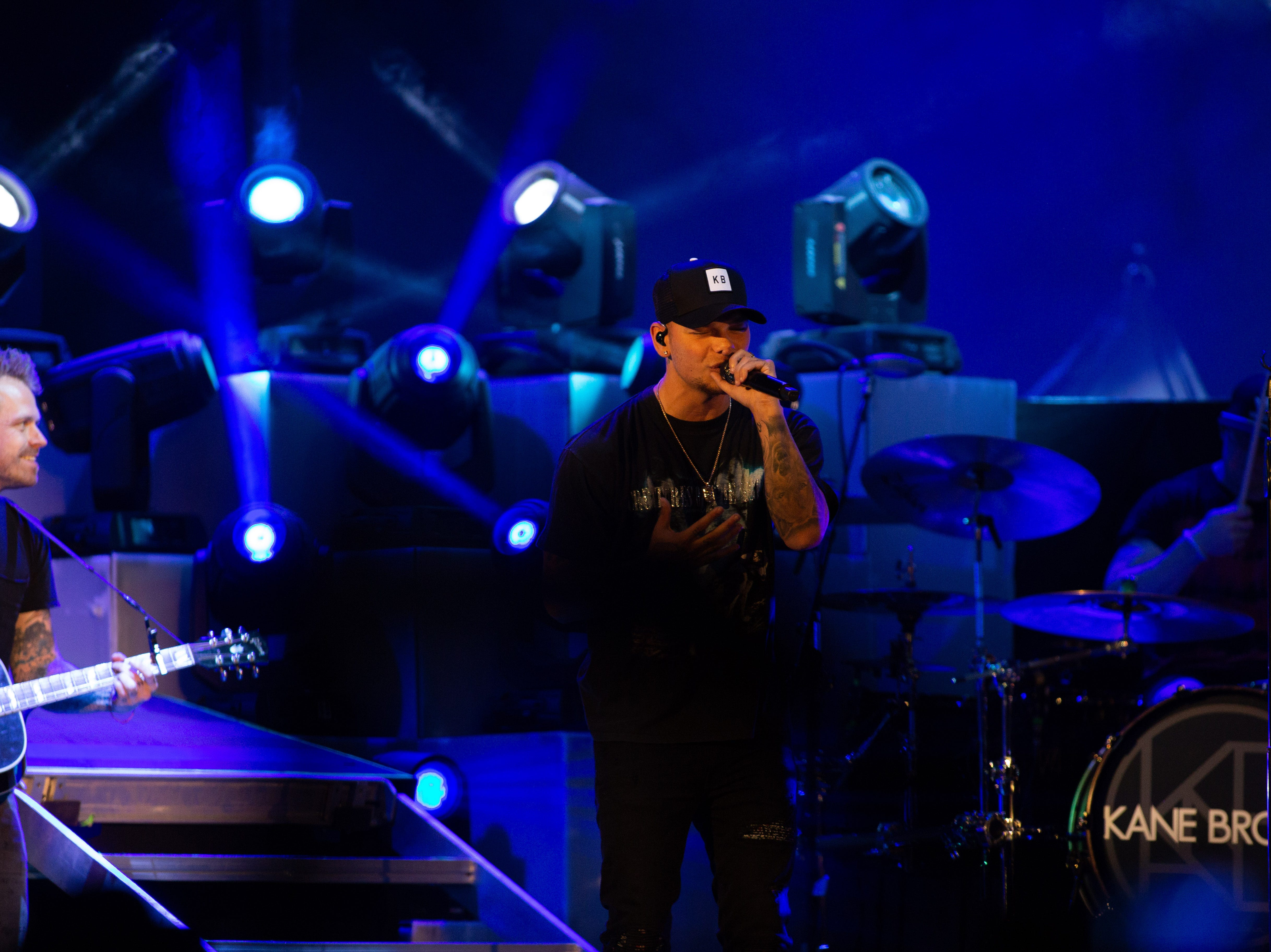 Kane Brown opens for Chris Young at a concert held at the Pan Am Center in Las Cruces on Thursday, Sept. 13, 2018.