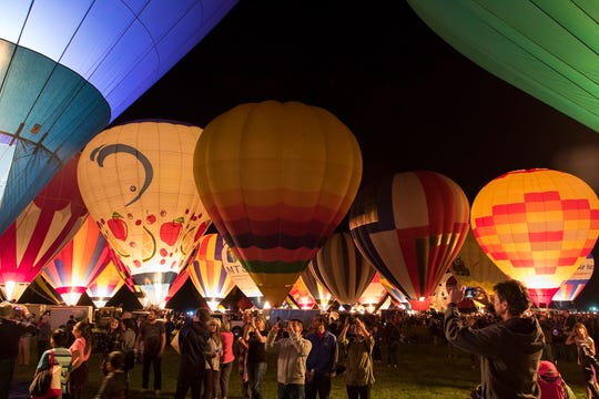 Hundreds of balloons will take flight from the Balloon Fiesta Park in Albuquerque at the Albuquerque International Balloon Fiesta on Oct. 6.